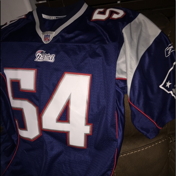 check out defe1 1c53e PATRIOTS #54 Teddy Bruschi football jersey !